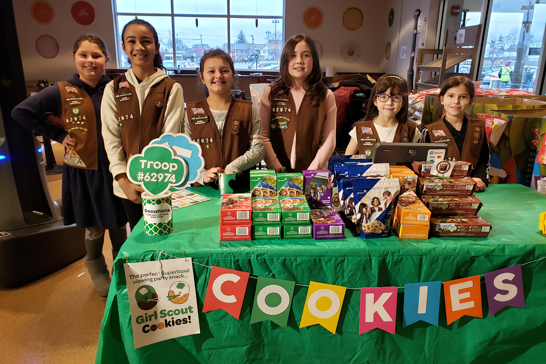 troop 62974 cookie booth